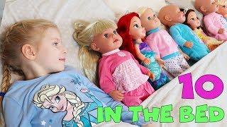 Ten In The Bed | Nursery Rhyme Song by Gabi | Roll Over | Disney Princess