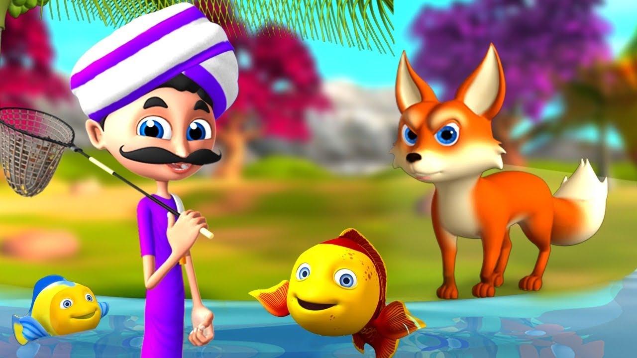 Download జిత్తులమారి నక్క వేటగాడు Cunning Fox & Hunter Telugu 3D Moral Short Stories   Fairy Tales   JOJO TV