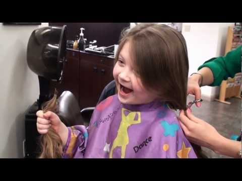 first hair cut donated to Locks of Love