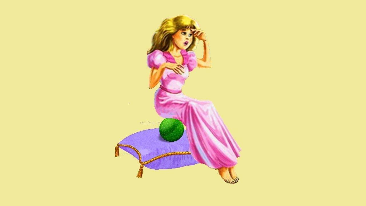 Рисунок горошины из сказки принцесса