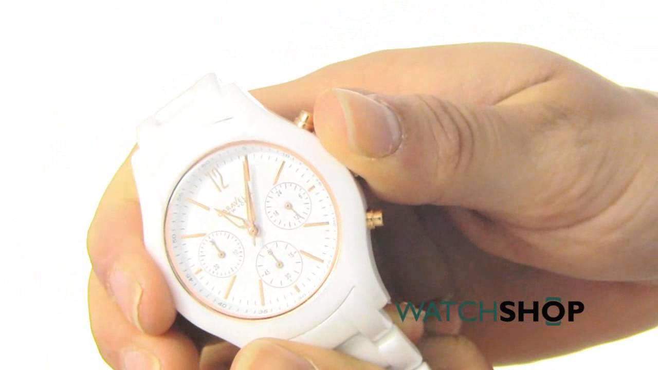 69929903a Caravelle New York Ladies' Emma Ceramic Chronograph Watch (45L144 ...