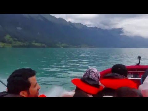 Jet boat ride Interlaken Switzerland (Lake Breinz)