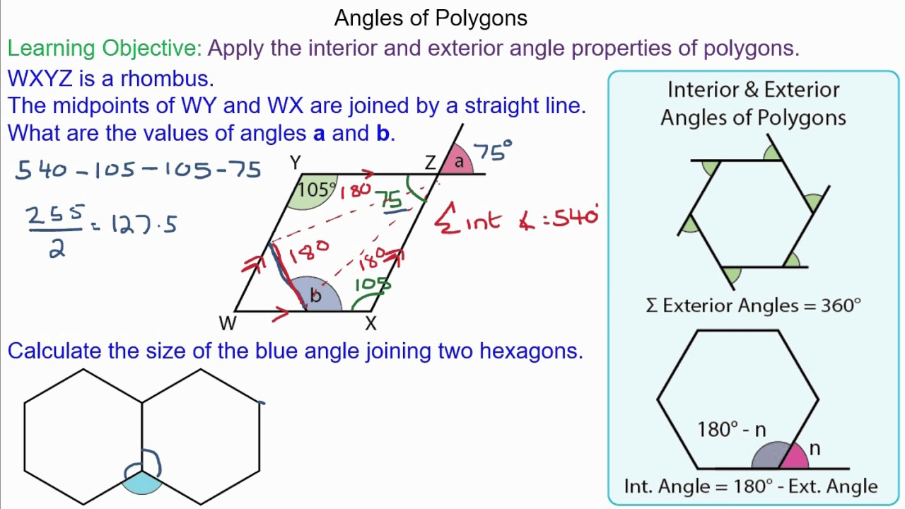 Problem Solving With Angles Of Polygons Youtube