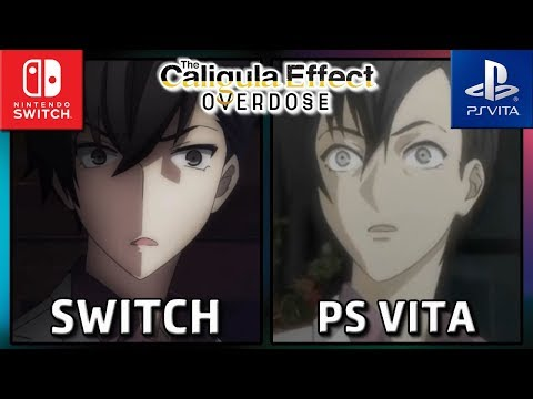 The Caligula Effect: Overdose | Switch vs PS Vita | Graphics Comparison
