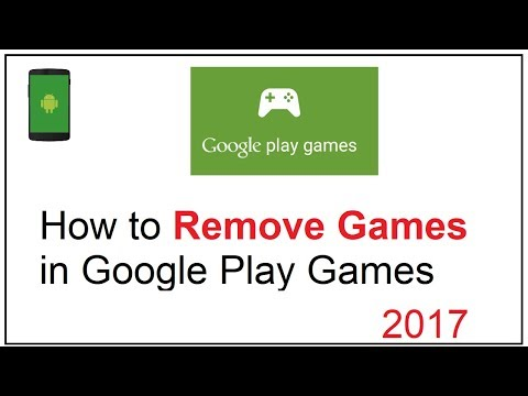 how to remove games from google play games
