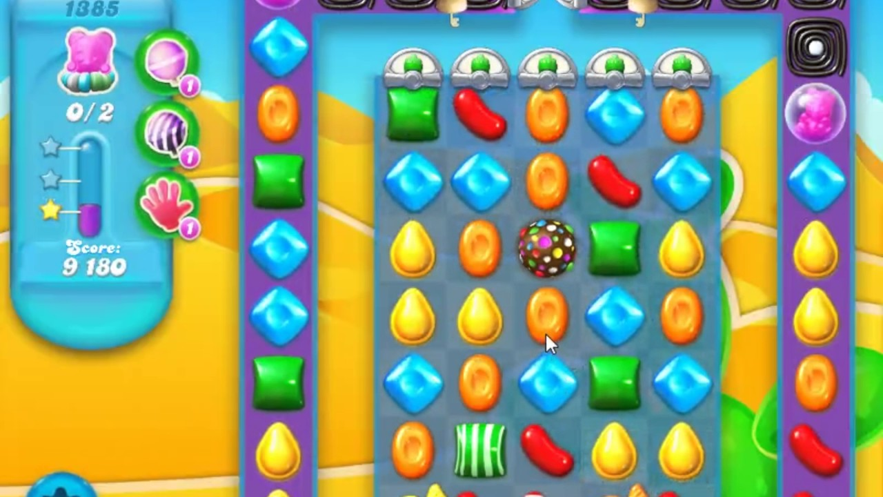 Candy Crush Soda Saga Level 1385 - NO BOOSTERS - YouTube