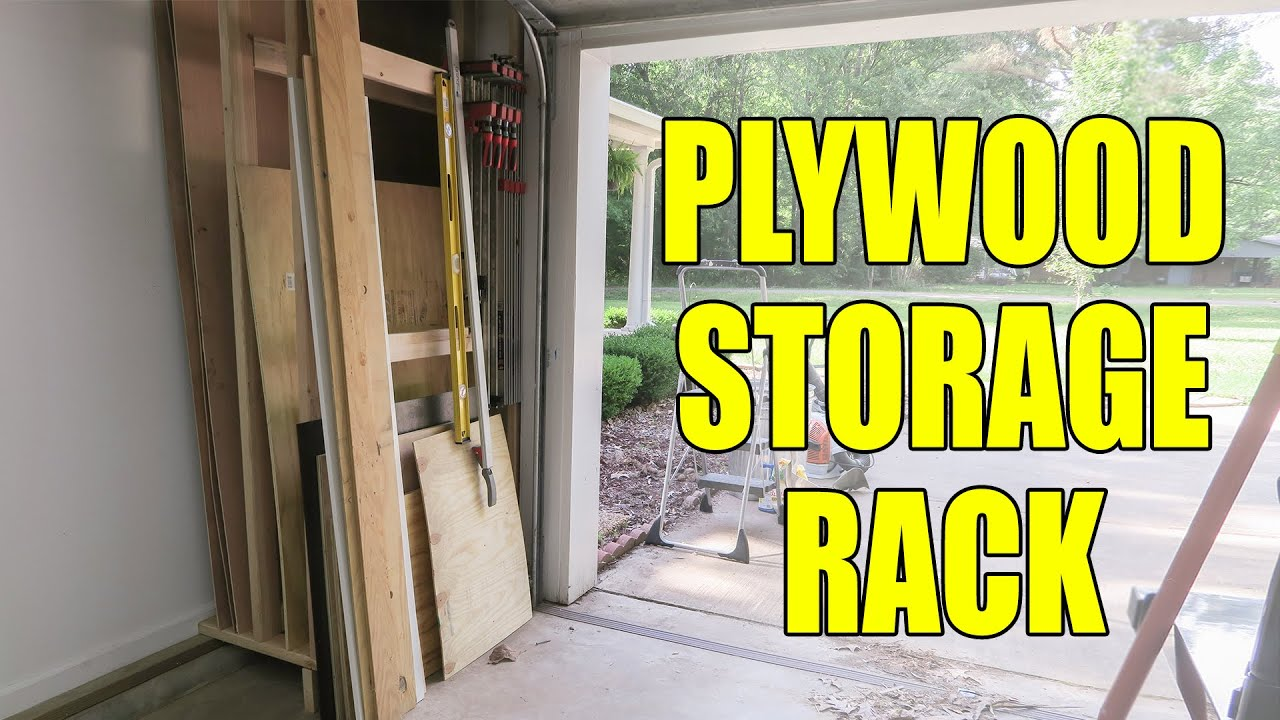 simple plywood rack for the shop 201