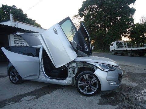 Hyundai Veloster com lambo door Tuning doors Portas verticais