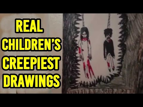 21 Creepiest Children's Drawings Ever!