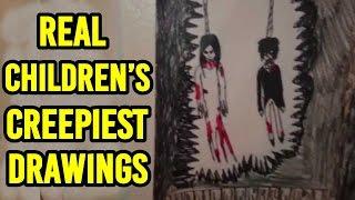 21 Creepiest Children's Drawings Ever!