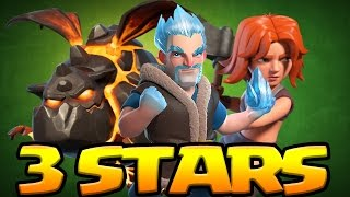 EPIC!! ICE WIZARD 3 Star Attacks in Clan Wars | Clash of Clans
