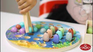 Деревянная магнитная рыбалка По Морям По Волнам хит продаж развивающая игра для малышей