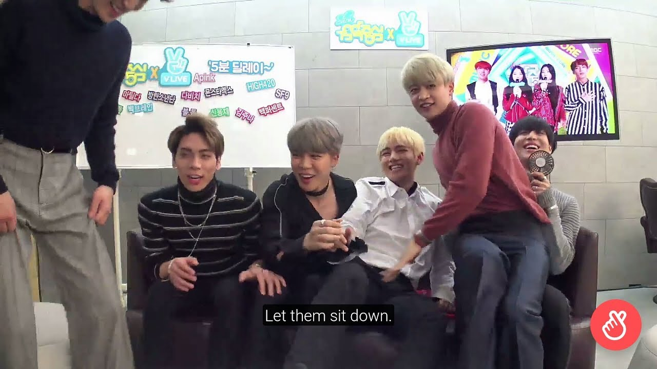 Download BTS AND SHINEE Monitoring their Stage at Music core