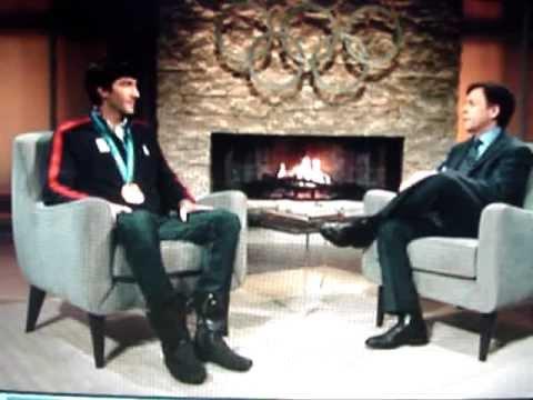 Bob Costas Interviews Evan Lysacek at the 2010 Olympics