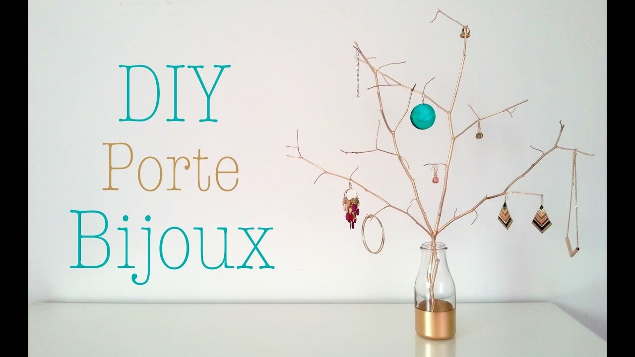 diy porte bijoux avec des branches youtube. Black Bedroom Furniture Sets. Home Design Ideas