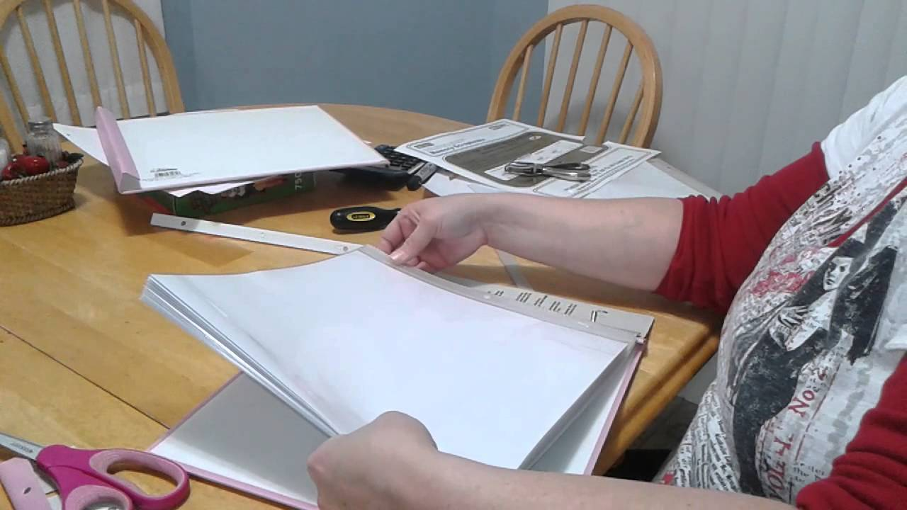 How to put scrapbook together