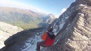 Base Jump à l'Eiger en hommage à l' ange gardien du massif du Mont Blanc