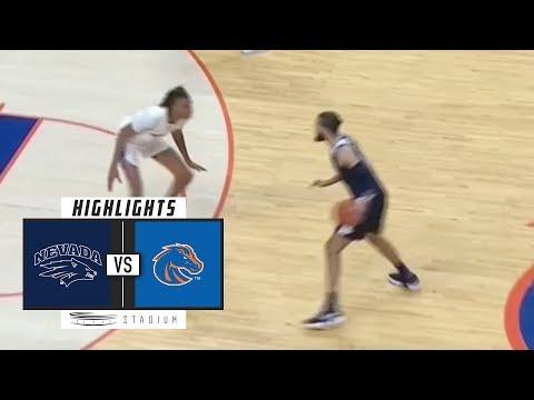 No. 10 Nevada vs. Boise State Basketball Highlights (2018-19) | Stadium