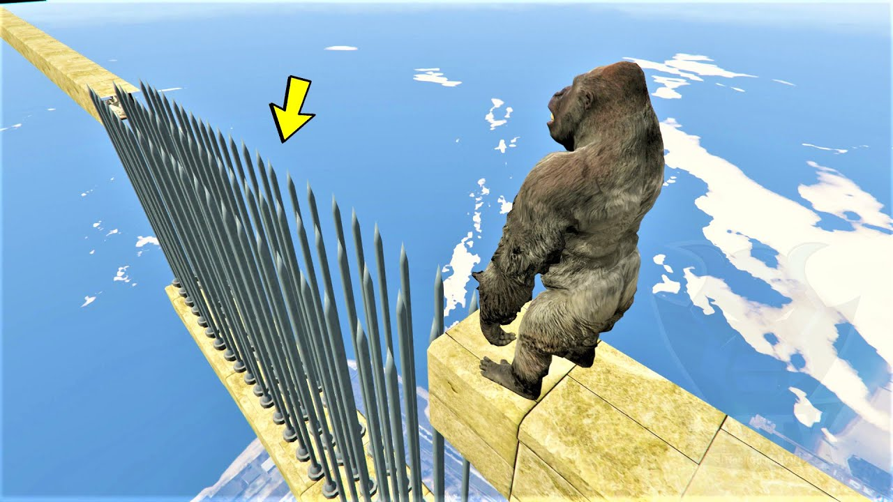 باركور سوبر غوريلا ماب المسامير 🐸 GTA 5 Super Gorilla Parkour Nails Map