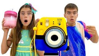 Настя и волшебный фотоаппарат Nastya juega con fotos mágicas, historias divertidas de juguetes mágic