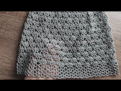 МК .Модная,красивая юбка ,крючком