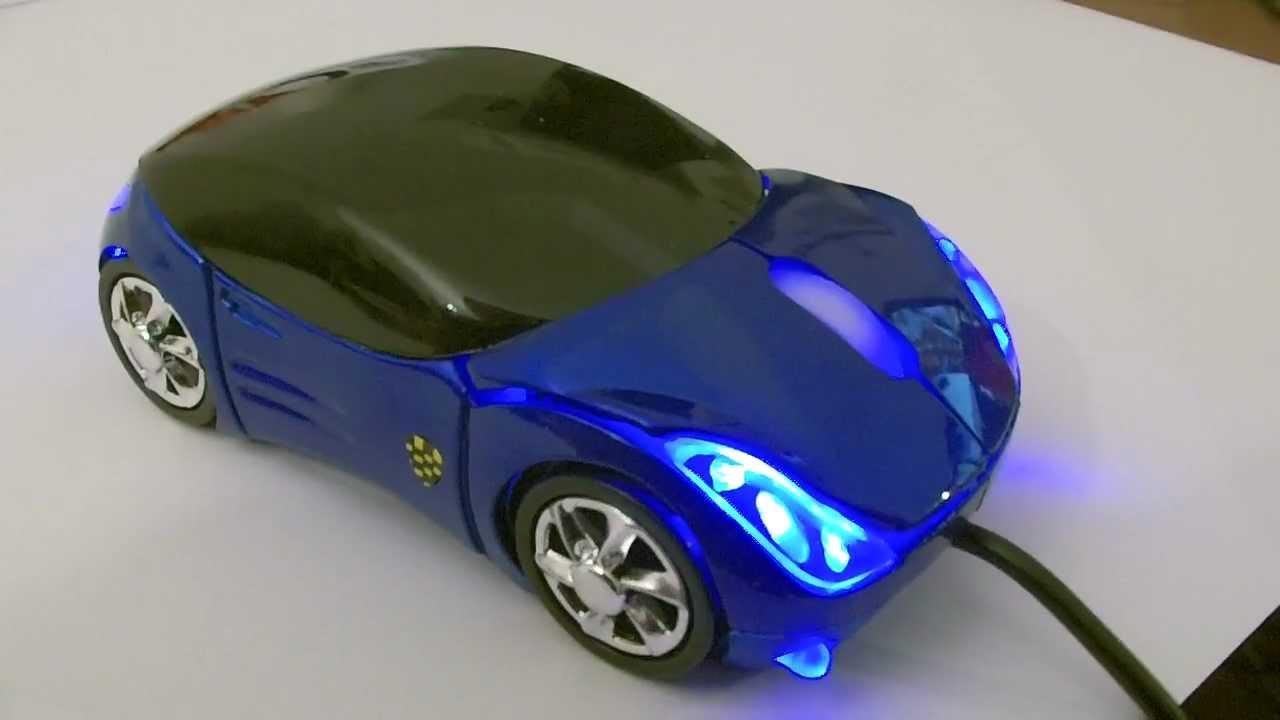 optische auto car usb maus mouse mit led beleuchtung laptop pc mit felgen youtube. Black Bedroom Furniture Sets. Home Design Ideas