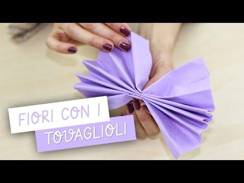 FIORI di carta con TOVAGLIOLI , DIY Tissue Paper Flower