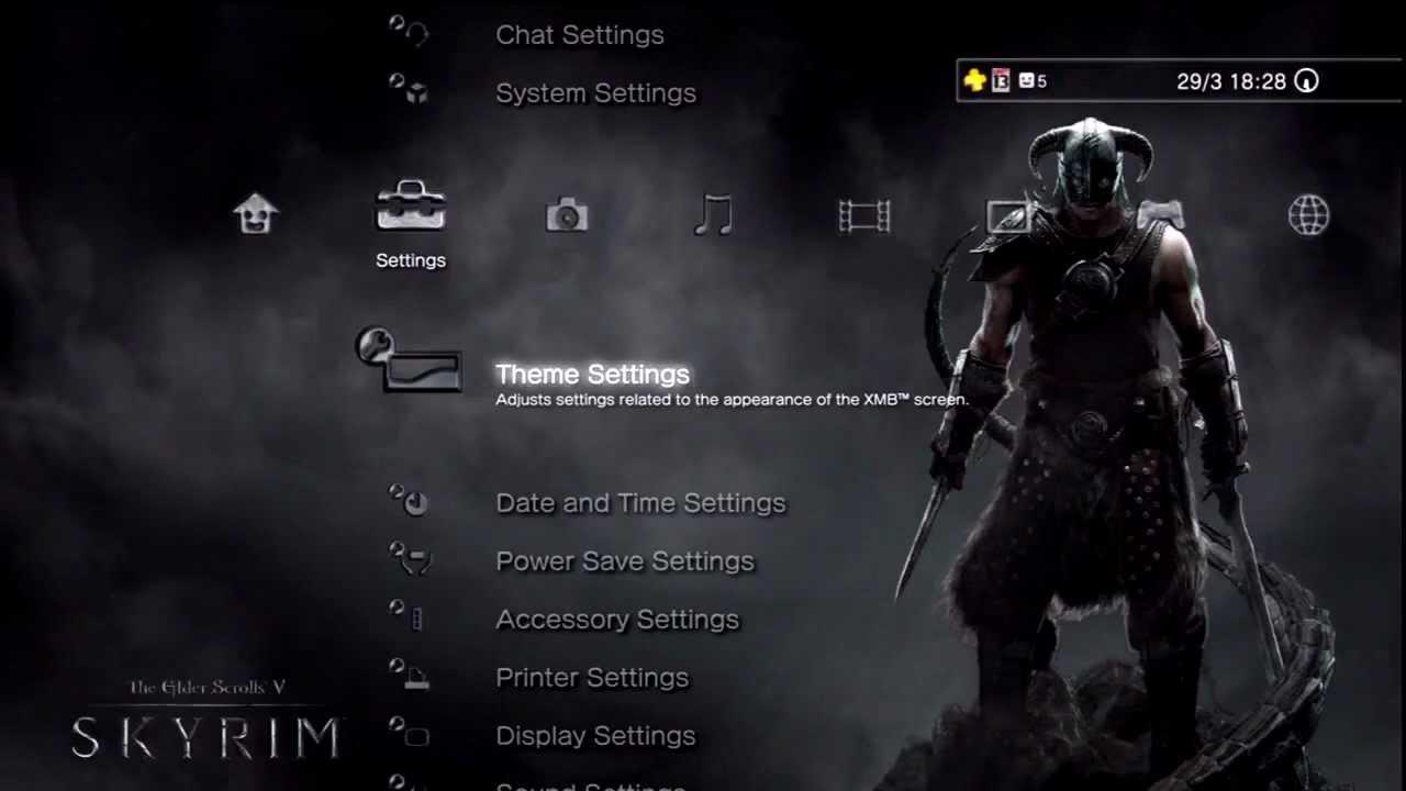 Skyrim The Elder Scrolls V Dynamic Theme Playstation 3 Youtube