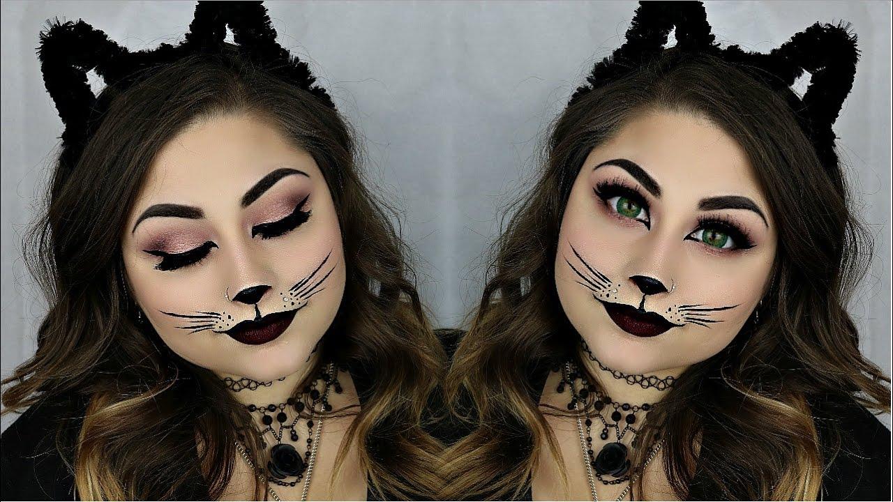 Easy Sexy Cat Halloween Makeup Tutorial | BeautyByJosieK ...