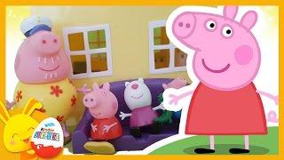 La maison de Peppa Pig - Histoire Jouets enfant avec George et Suzy- Touni Toys Titounis
