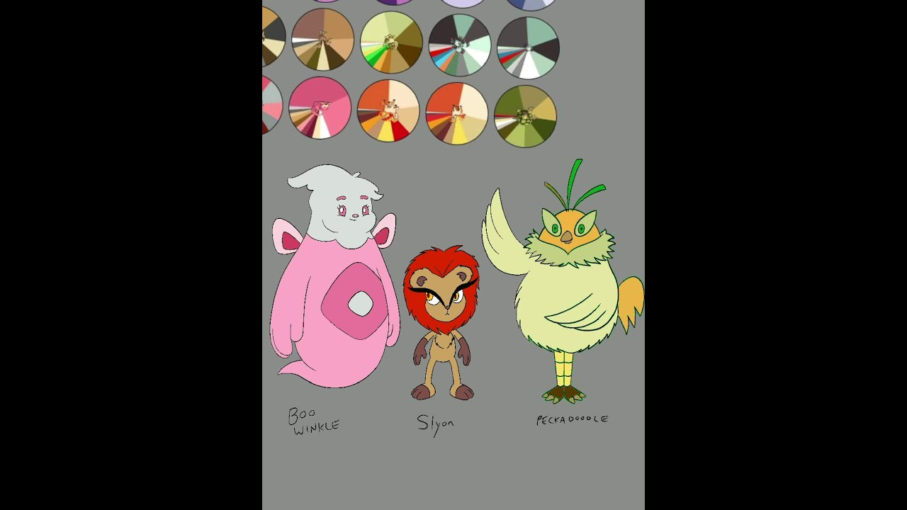 Drawing Original Pokemon Characters