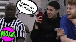 "LaMelo Ball Films as REF CLOWNS ""Getting Beat by 100 points""  Rocket & Isaiah GO OFF"