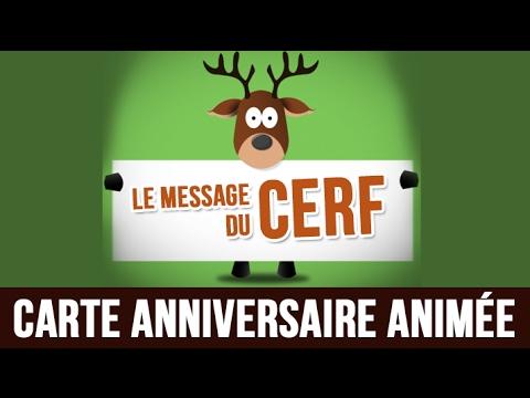 Le Message Du Cerf Joyeux Anniversaire Carte Anniversaire Animee