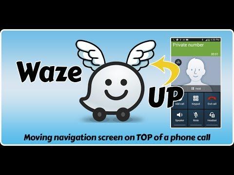 Waze UP - Keeping your Waze navigation screen on top