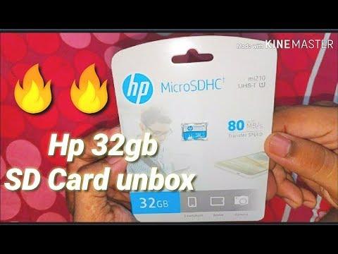 🔥🔥2019 HP 32GB Class 10 MicroSD Memory Card Unboxing(U1 TF Card 32GB)