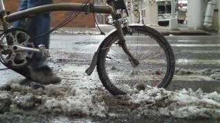 Brompton Folding Bike NYC - Winter Riding