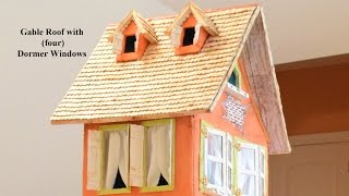 How To Make A Miniature House Tutorial. (part 2) ' Making The Gable Roof With Dormer Windows'