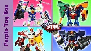 헬로카봇 합체로봇 4종 헬로카봇3 케이캅스 마이티가드 헬로카봇2 로드세이버 헬로카봇1 펜타스톰 Transformer Hello Carbot Giant Robots 퍼플토이박스