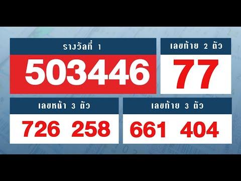 ตรวจหวย ตรวจผลสลากกินแบ่งรัฐบาล งวดวันที่ 16 มีนาคม 2563