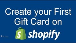 Create your first Gift Card Product on Shopify | Shopify 2017