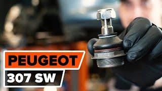 Montering Bremsetrommel bak og foran PEUGEOT 307 SW (3H): gratis video
