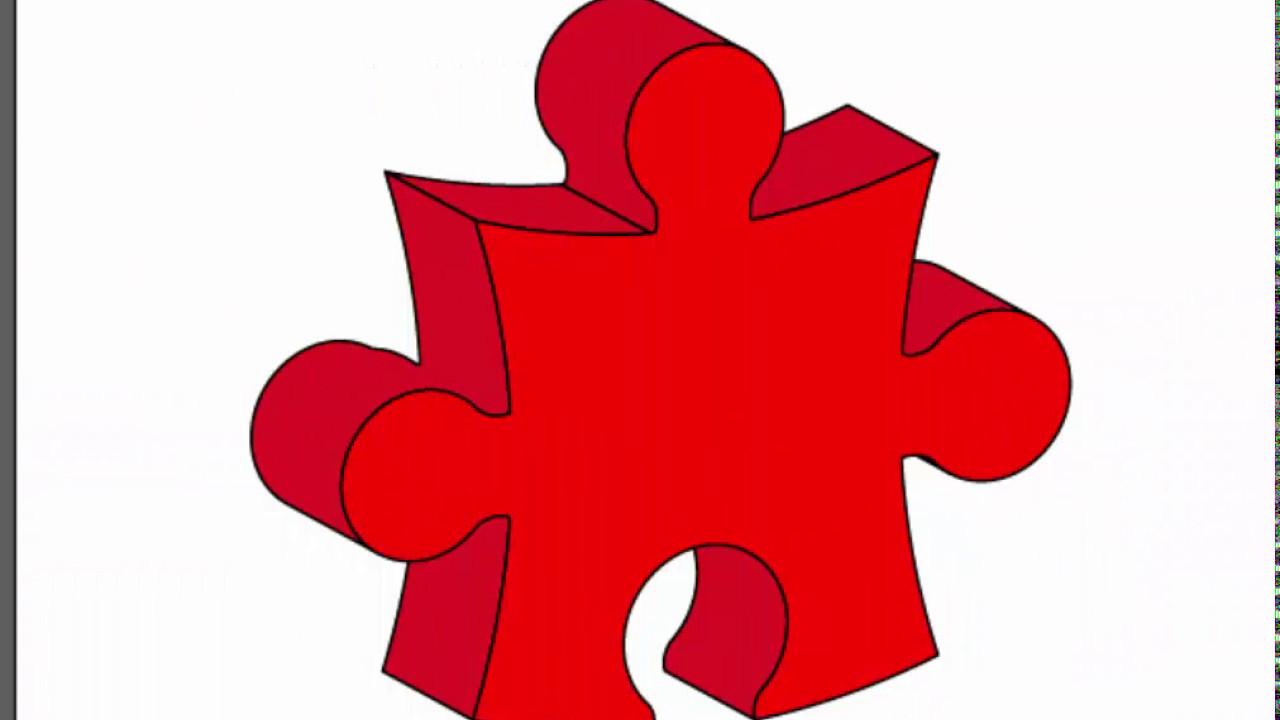 3d puzzle piece adobe illustrator cs6 tutorial how to