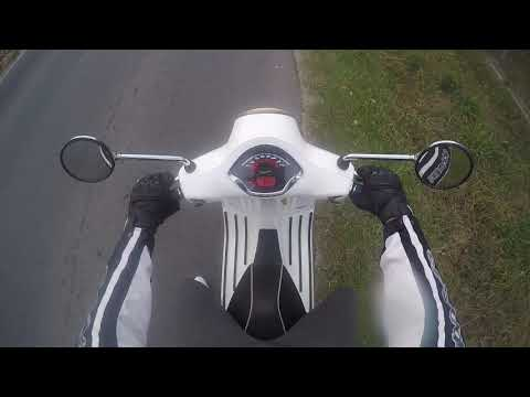 Vespa  GTS  - top speed - acceleration & brake test