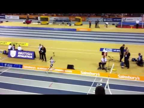 Thumbnail: Laura Muir storms to victory in the 800m at the Glasgow International, 2014
