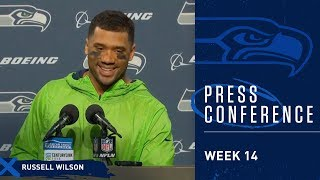 Seahawks Quarterback Russell Wilson Postgame Press Conference vs Vikings