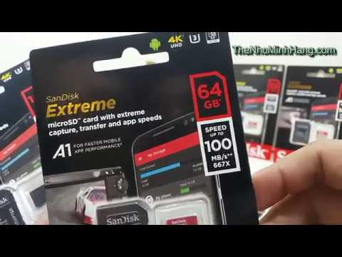 Micro Sdxc Sandisk Extreme 64g Class 10 A1 V30 100mb Youtube