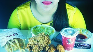 Eating KFC Fried Chicken & Fries With Chicken Fried Rice