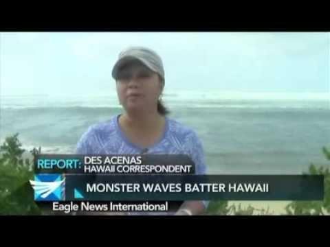 Monster waves batter Hawaii - Des Acenas reports