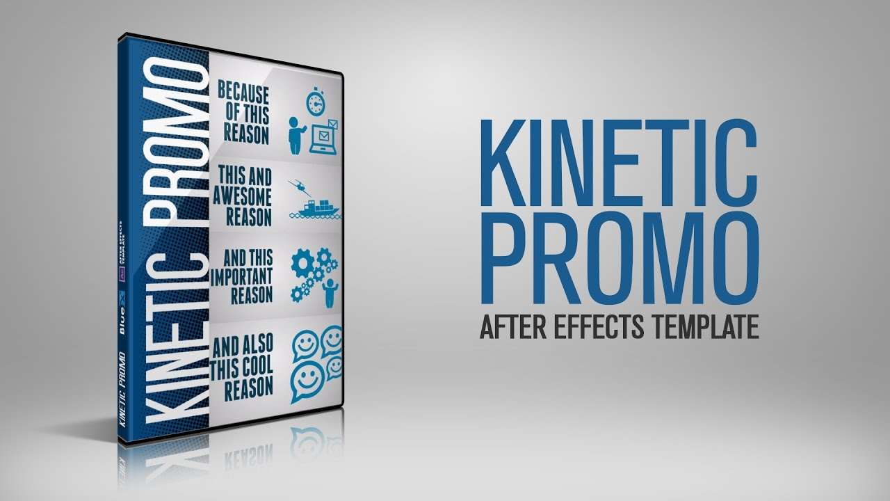 kinetic promo after effects template bluefx after effects projects youtube. Black Bedroom Furniture Sets. Home Design Ideas