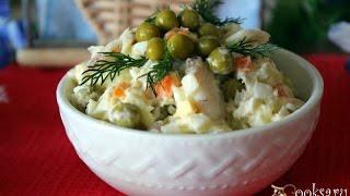 Салат с хеком ' Рыбный день'
